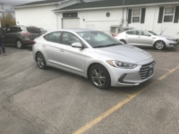 2017 Hyundai Elantra, 176,000 km's, 4 cyl, automatic, air, heated seats, heated steering wheel, infotainment, Bluetooth, USB, Aux port, key-less entry, power windows and locks, alloy wheels, new 2 year M.V.I ad more. $7,995.00 Contact Greg at East Coast Wheels 1(506) 447-1212.