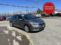 2015 Kia Forte LX, 143,000 km's, 4 cyl, automatic, air, power windows/locks, key-less entry, heated seats, CD player, Bluetooth, USB, Aux port, cruise, alloy wheels, inspected until August 2022 and more. $7,995.00 with financing available on approved credit. Contact Greg at East Coast Wheels 1(506) 447-1212.