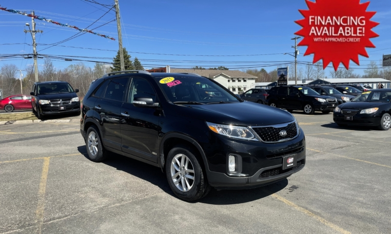 2015 Kia Sorento EX, 155,000 km's, 4 cyl, AWD, automatic, air, cruise, heated front and rear leather seats, power windows/locks, back-up camera, Bluetooth, USB, Aux port, key-less entry, push-button start, inspected until December 2022 and more. Two sets of tires and wheels included. $12,900.00 with financing available on approved credit. Contact Greg at East Coast Wheels 1(506)447-1212.