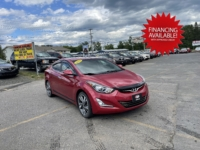 2014 Hyundai Elantra Limited, 124,000 km's, 4 cyl, automatic, air, heated leather seats, power drivers seat, power windows and locks, air, cruise, CD player, Bluetooth, USB, AUX port, key-less entry, sunroof, alloy wheels, inspected until February 2022, and more. $7,995.00 with financing available on approved credit. Contact Greg at East Coast Wheels 1(506) 447-1212.