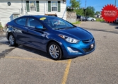 2015 Hyundai Elantra Sport, 123,000 km's, 4 cyl, automatic, air, cruise, sunroof, alloy wheels, heated front seats, CD player, Bluetooth, USB, AUX port, key-less entry, inspected until August 2023, and more. $9,995.00 with financing available on approved credit. Contact Travis at East Coast Wheels 1(506)461-9555.