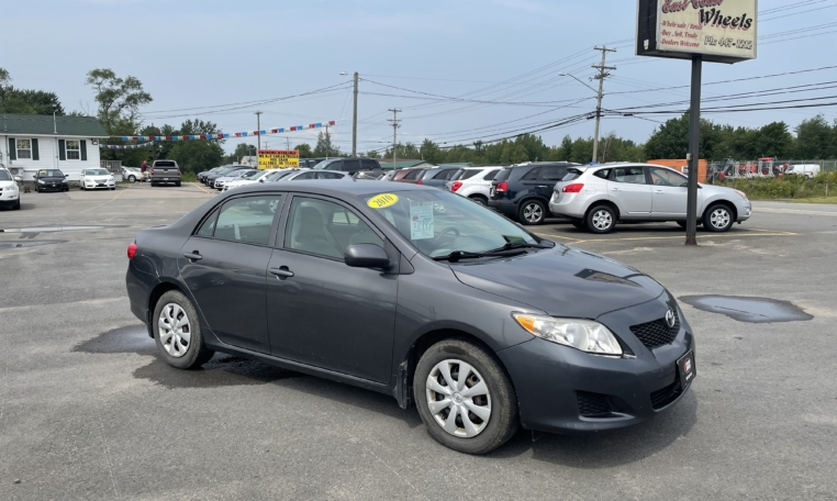 2010 Toyota Corolla CE, 168,000 km's, 4 cyl, automatic, air, cruise, AUX port, power windows and locks, CD player, inspected until October 2022, and more. $7,995.00 Contact Greg at East Coast Wheels 1(506) 447-1212.