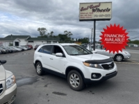 2013 Kia Sorento EX, 151,000 km's, V6, automatic, AWD, air, cruise, heated seats, power windows and locks, key-less entry, CD player, Bluetooth, USB, AUX port, alloy wheels, introspected until September 2022, and more. $9,995.00 with financing available on approved credit. Contact Greg at East Coast Wheels 1(506) 447-1212.