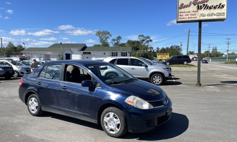 2008 Nissan Versa, 211,000 km's, 4 cyl, automatic, air, power windows and locks, CD player, AUX port, inspected until August 2022 and more. $2,995.00 Taxes included as traded special. Contact Greg at East Coast Wheels 1(506) 447-1212.