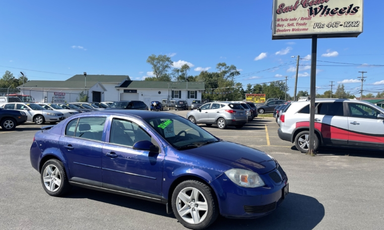 2007 Pontiac G5, 121,000 km's, 4 cyl, automatic, air, cruise, CD player, power windows and locks, key-less entry, AUX port, inspected until January 2023 and more. $2,995.00 Taxes included as traded special. Contact Greg at East Coast Wheels 1(506) 447-1212.